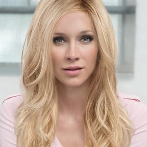 Women's Red Wavy Synthetic Lace Front Wig Mono Part By Rooted