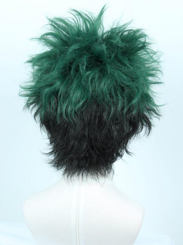 High End Anime-Cosplay-Wig-Halloween-Costume-Wig-Hero, Black Green