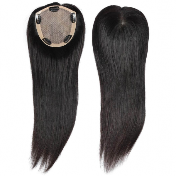 Natural Silk Top Human Hair Toppers For Womens