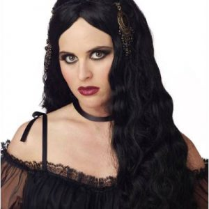 High End Lace Front Wigs Gothic Princess Black Halloween Wig By California Costumes