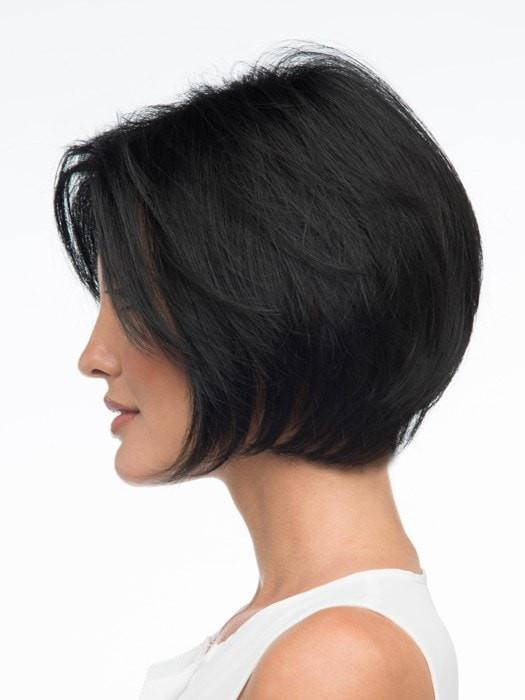 High End Women Short Straight Human Hair/Synthetic Blend Monofilament Wig Hand-tied By Rooted