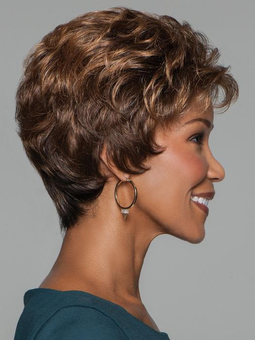 Top Quality Women Blonde Short Curly Synthetic Wig Basic Cap