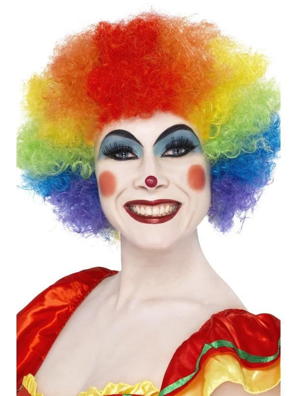 Cheap Fashion Crazy Clown Wig, Rainbow
