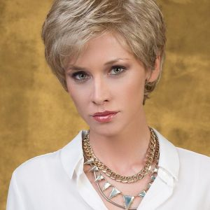 High End Women Short Straight Straight Synthetic Lace Front Monofilament Wig