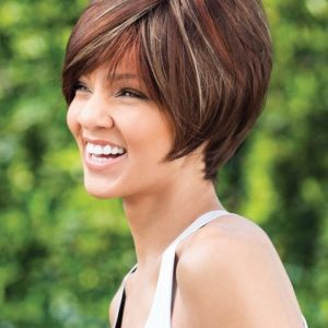 Cheap Women Short Straight Monofilament Synthetic Wig Mono Top