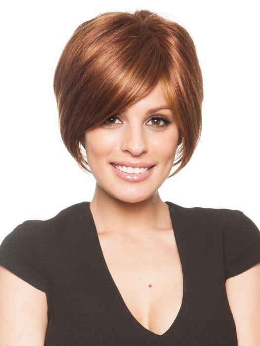 Cheap Women Short Straight Monofilament Synthetic Wig Mono Top