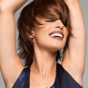 Fashion Women Short Straight Synthetic Lace Front Monofilament Wig By Rooted