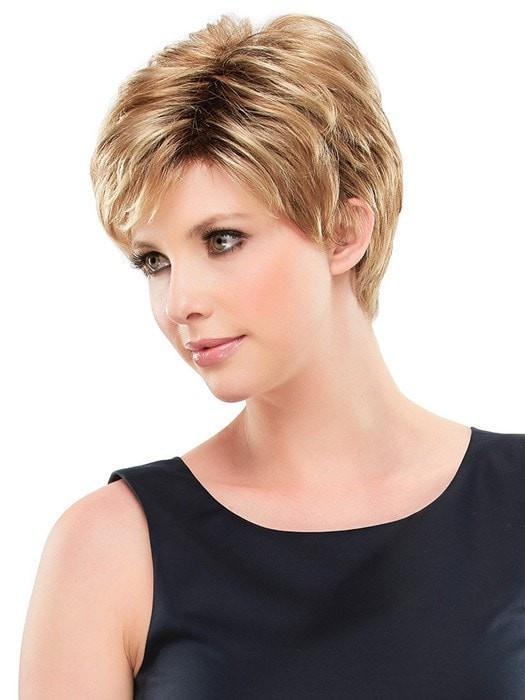 Cheap Women Short Straight Blonde Synthetic Wig Basic Cap By Rooted
