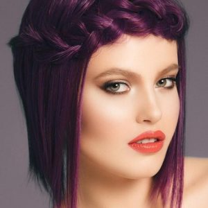 High End Purple Midnight Berry Hf Synthetic Wig Basic Cap