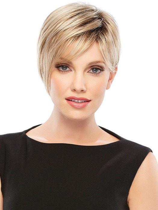 Fashion Women Short Straight Black Synthetic Wig Basic Cap By Rooted