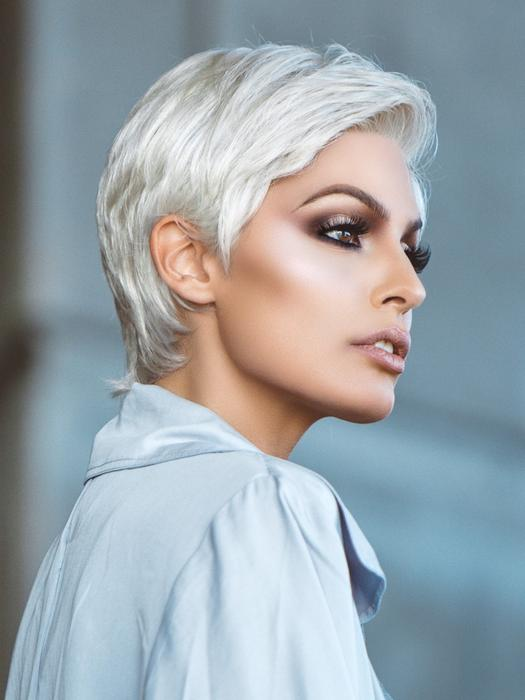 White Risk Comfort Short Synthetic Lace Front Wig