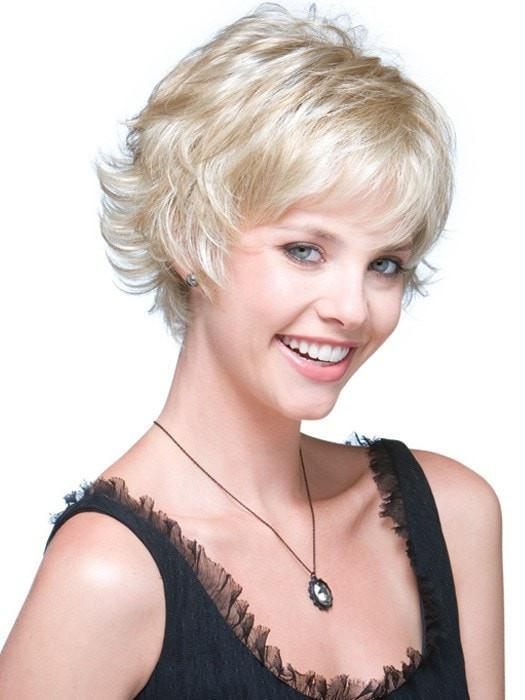 Cheap Women Short Straight Blonde Synthetic Wig Basic Cap