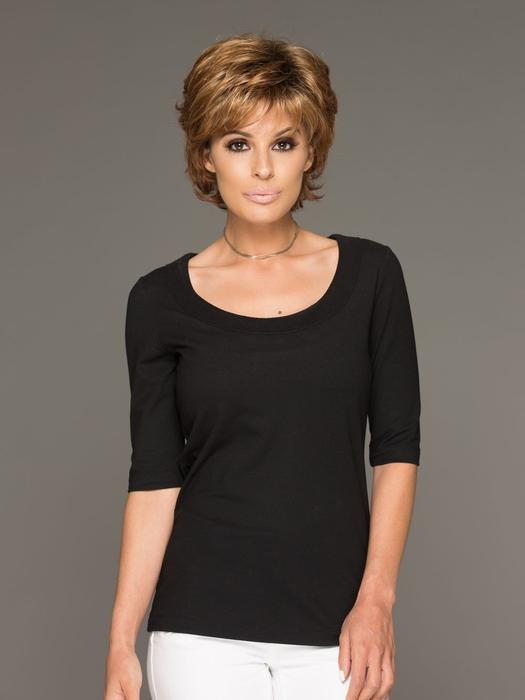 Cheap Women Short Straight Synthetic Wig Basic Cap By Rooted