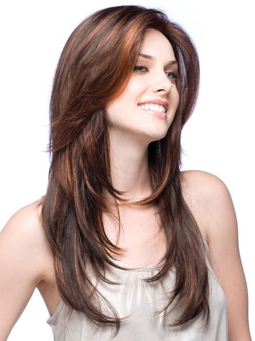 Fashion Women Straight Long Synthetic Wig Basic Cap By Rooted