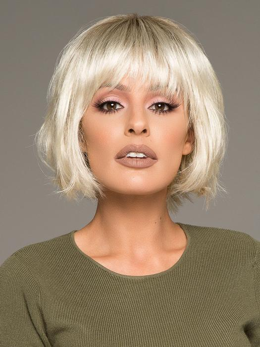 Top Quality Women Short Straight Bob Synthetic Wig By Rooted