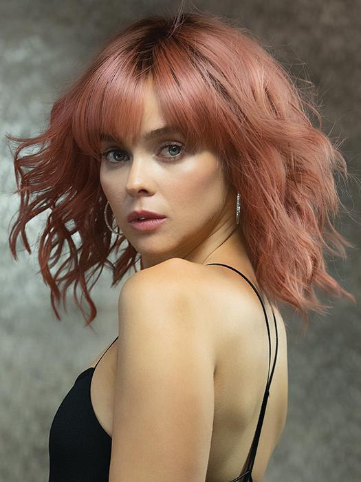 High End Women Short Wavy Colored Hf Synthetic Wig