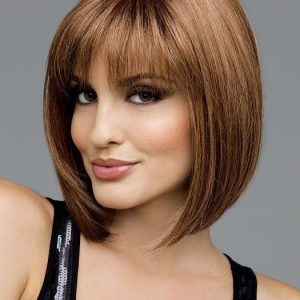 High End Women Short Straight Monofilament Short Synthetic Wig By Rooted