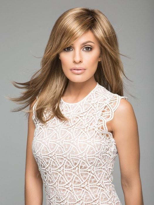 Fashion Women Straight Mid-length Synthetic Wig Mono Crown By Rooted