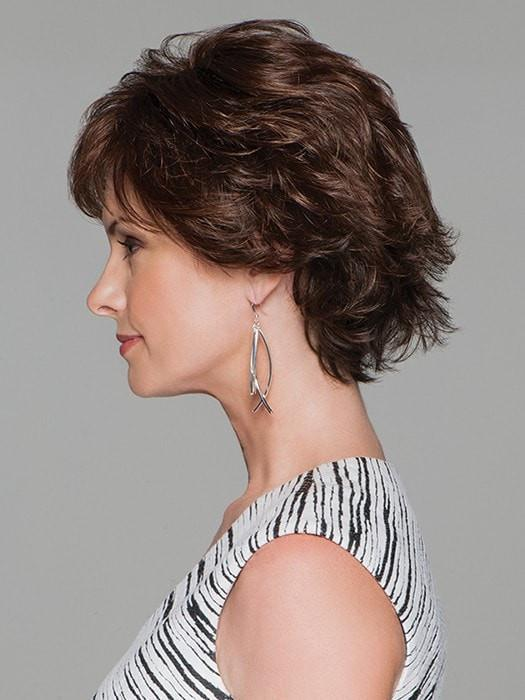 High End Women Short Straight Monofilament Synthetic Lace Front Wig Mono Top