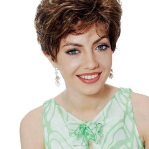 High End Women Short Straight Synthetic Wig Basic Cap