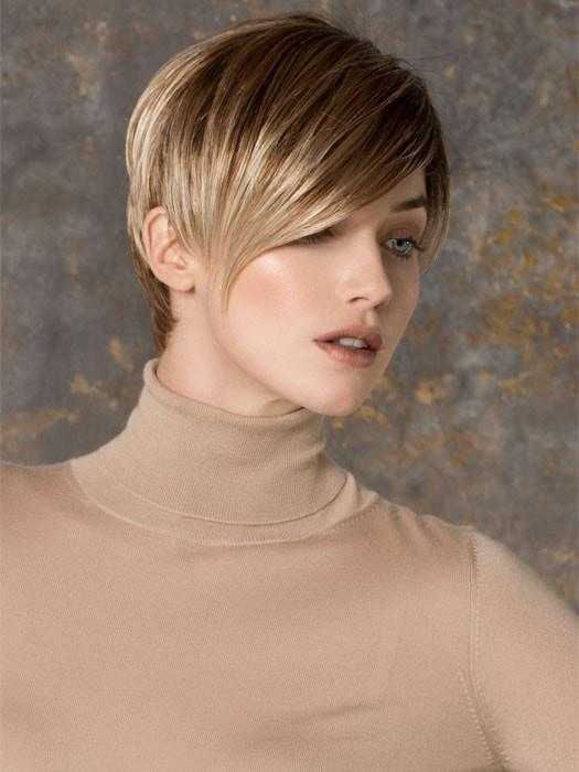 Fashion Women Short Straight Synthetic Wig Mono Part By Rooted