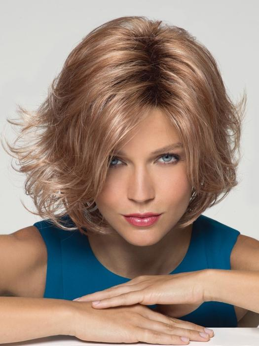 Fashion Women Straight Mid-length Synthetic Wig Basic Cap By Rooted