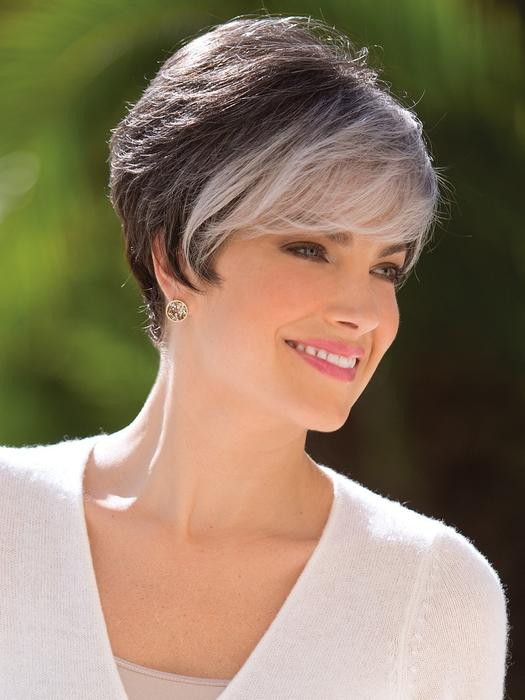 Fashion Short Synthetic Wig Basic Cap By Rooted