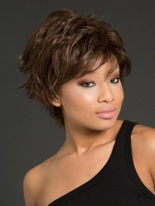 Fashion Women Short Straight Hf Synthetic Wig Basic Cap By Rooted