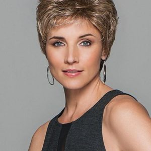 Cheap Women Short Straight Synthetic Wig Basic Cap