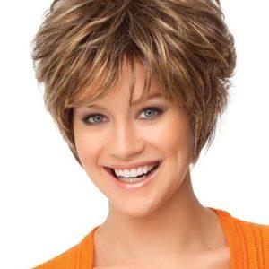 Cheap Women Short Straight Synthetic Wig Basic Cap