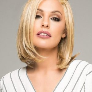 High End Women Short Straight Hf Mid-length Synthetic Lace Front Wig By Rooted