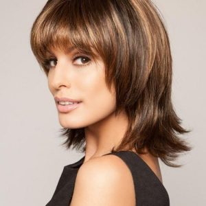 Top Quality Women Straight Monofilament Synthetic Lace Front Wig By Rooted