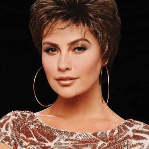 Fashion Women Short Wavy Blonde Synthetic Wig Basic Cap