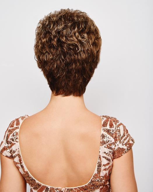Fashion Women Short Wavy Blonde Synthetic Wig Basic Cap