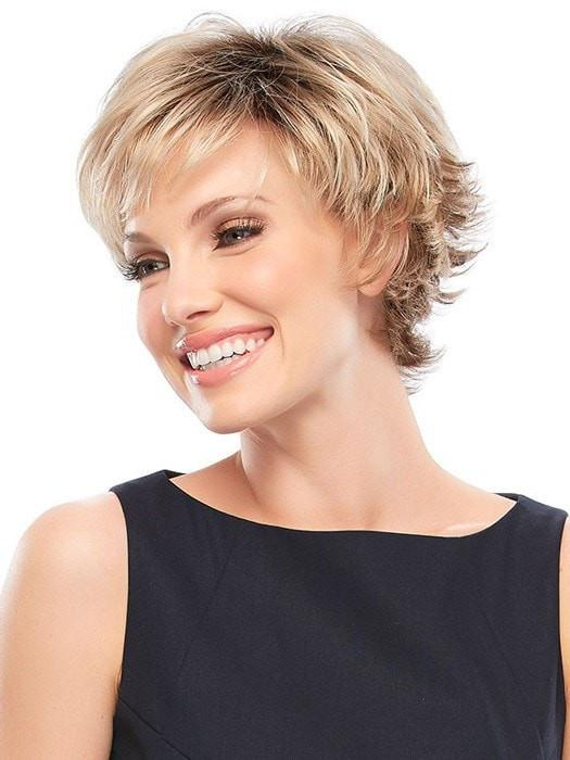 Fashion Women Short Straight Monofilament Synthetic Wig Mono Top By Rooted
