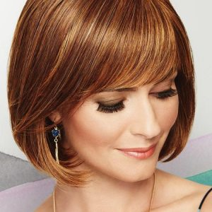 Cheap Women Short Straight Mid-length Hf Synthetic Wig Basic Cap