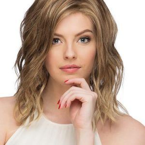 High End Women Straight Mid-length Synthetic Lace Front Wig By Rooted
