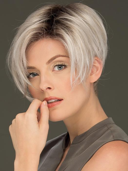 Top Quality Women Short Pixie Synthetic Lace Front Wig By Rooted