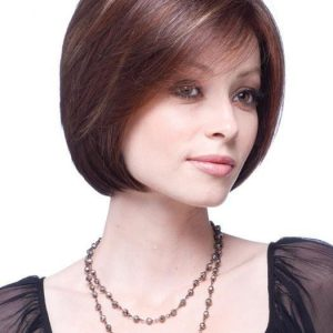 Cheap Women Short Mid-length Straight Monofilament Synthetic Wig Full Mono