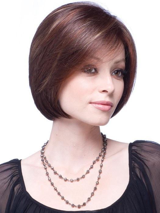 Cheap Women Short Mid-length Straight Monofilament Synthetic Wig Full Mono