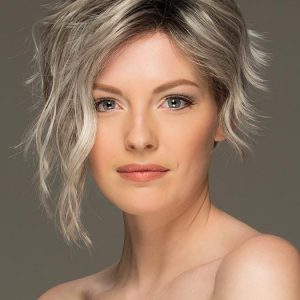 Fashion Women Short Wavy Pixie Synthetic Lace Front Wig By Rooted
