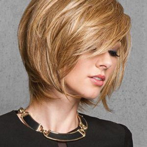 Fashion Women Mid-length Straight Hf Synthetic Wig Basic Cap By Rooted