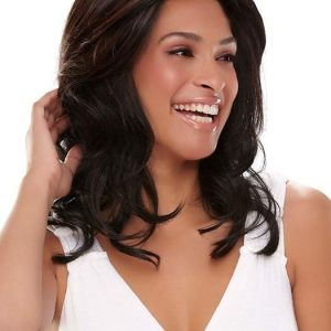 Fashion Women Wavy Hf Monofilament Synthetic Lace Front Wig By Rooted