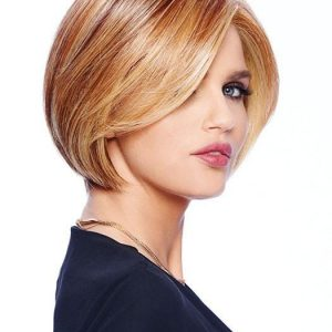 Fashion Women Short Straight Monofilament Hf Synthetic Lace Front Wig By Rooted