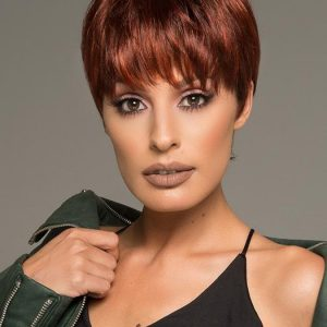 Fashion Women Short Straight Synthetic Wig Mono Crown By Rooted
