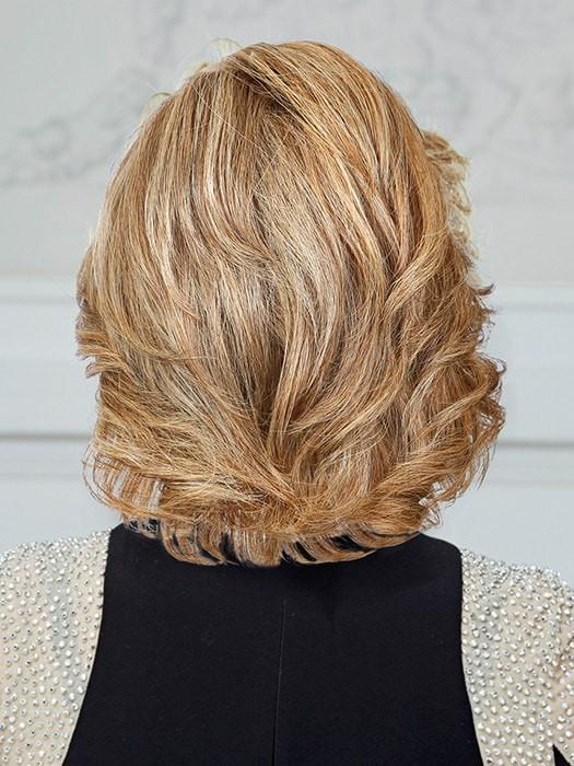 High End Women Wavy Monofilament Remy Human Hair Lace Front Wig By Rooted