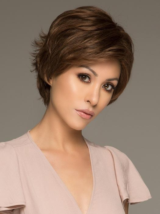 Top Quality Women Short Wavy Monofilament Synthetic Lace Front Wig By Rooted