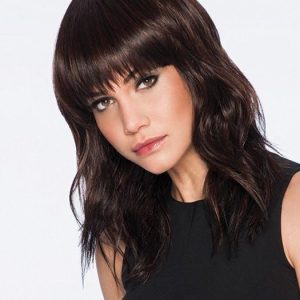 Cheap Women Curly Mid-length Hf Synthetic Wig Basic Cap By Rooted