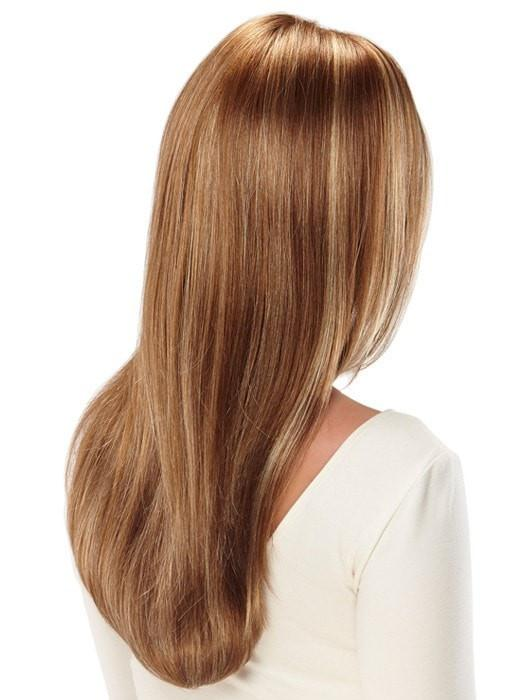 High End Women Long Straight Monofilament Synthetic Lace Front Wig By Rooted
