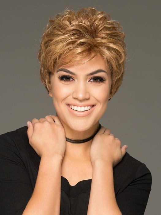 Cheap Women Short Curly Synthetic Wig Basic Cap